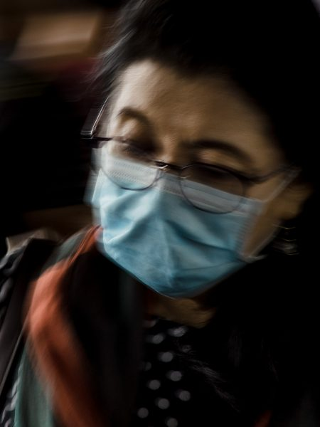 People use face masks in fear of coronavirus in Manila, Philippines